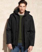 Calvin Klein Hooded Water Resistant Coat with Bib