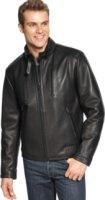 Calvin Klein Leather Motorcycle Jacket