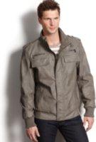 Calvin Klein Lightweight Faux Leather Bomber Jacket