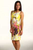 Calvin Klein Petite Vertical Seamed Dress