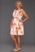 Calvin Klein Plus Size Retro Skin Print Flare Dress