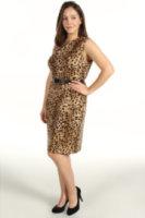 Calvin Klein Plus Size S/L Seamed Dress
