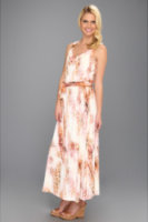 Calvin Klein Printed Maxi Dress W/ Hardware