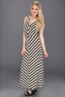 Calvin Klein Rayon Sleeveless Blouson Maxi Dress