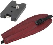 Camdapter Arca Adapter with Burgundy ProStrap Fits All Arca Swiss QR and RRS Clamps