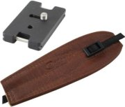 Camdapter Arca Adapter with Medium Brown ProStrap Fits All Arca Swiss QR and RRS Clamps