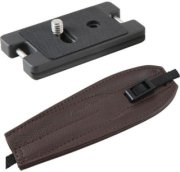 Camdapter Arca Neoprene Adapter with Chocolate Brown ProStrap Full Access to Battery/Card Compartment