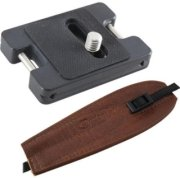 Camdapter Arca XT Adapter with Medium Brown ProStrap Fits All Arca Swiss QR and RRS Clamps