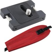 Camdapter Arca XT Adapter with Red ProStrap Fits All Arca Swiss QR and RRS Clamps