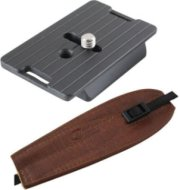 Camdapter Manfrotto Adapter with Medium Brown ProStrap Fits 3157N Plate RC2-Type QRs