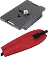Camdapter Manfrotto Adapter with Red ProStrap Fits 3157N Plate RC2-Type QRs