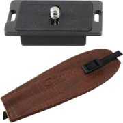 Camdapter Manfrotto Neoprene Adapter with Medium Brown ProStrap Fits 3157N Plate RC2-Type QRs