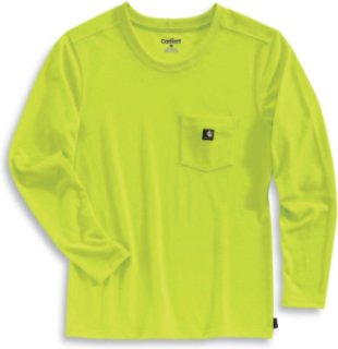 Carhartt color enhanced work dry long sleeve t shirt 35 for Carhartt work dry t shirt