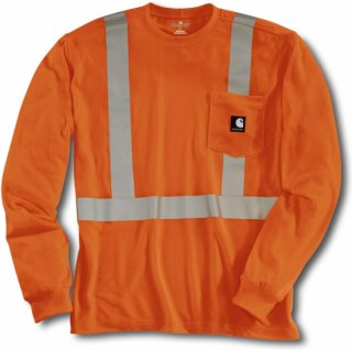 Carhartt high visibility class 2 work dry long sleeve t for Carhartt work dry t shirt