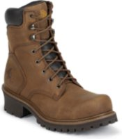 Chippewa 8  Steel Toe Logger Boots