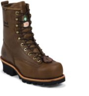 Chippewa 8  Steel Toe Waterproof Logger Boots