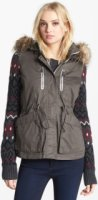 Circus by Sam Edelman Knit Sleeve Anorak