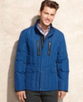 Cole Haan Leather Trim Quilted Down Jacket