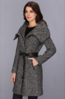 Cole Haan Novelty Wool Tweed With Leather Details