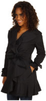 Cole Haan Packable Trench with Ruffle Detail
