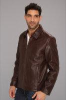 Cole Haan Shirt Collar Smooth Lamb Jacket