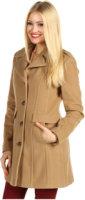 Cole Haan Wool Plush Single Breasted Coat
