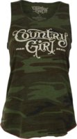Country Girl Camo Racer Back Tank