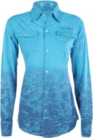 Cowgirl Tuff Collared Burn-Out Long Sleeve Shirt