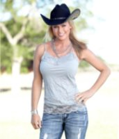 Cowgirl Tuff Lace Accent Cami