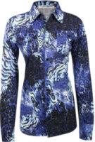 Cowgirl Tuff Long Sleeve Animal Print Shirt