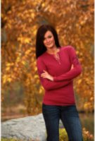 Cowgirl Tuff Long Sleeve Cross Henley Shirt