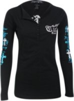 Cowgirl Tuff Long Sleeve Embroidered Henley