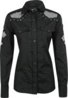 Cowgirl Tuff Long Sleeve Sequin Cross Shirt