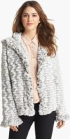 Damselle Hooded Faux Fur Jacket (Online Only) Large
