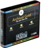 Delkin CD-R Archival Gold Scratch Armor 700mb 80 Minute with Hard Case Binder and Sleeves - 10 Pack