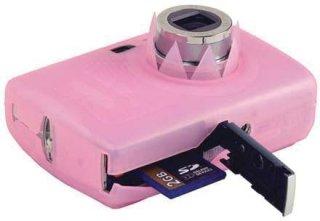 Delkin Snug-It Silicone Digital Camera Skin for the Canon SD890 & Ixus 970 Pink with Neck & Wrist Straps