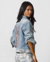 Denim & Supply Ralph Lauren Destructed Embroidered Denim Jacket