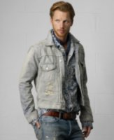 Denim & Supply Ralph Lauren Striped Denim Trucker Jacket