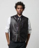 Denim & Supply Ralph Lauren Vegan Faux-Leather Faux Shearling-Lined Vest