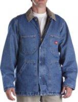 Dickies Denim Zip-Front Chore Coat