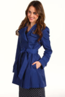 DKNY Double Breast Flounce Trench