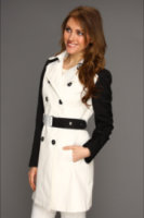DKNY Double Breasted Trench w/ Contrast Sleeve 06630-YV