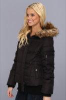 DKNY Hooded Faux Fur Bomber Jacket
