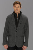 DKNY Knit Blazer w/ Ripstop Full Zip Mock Neck Liner