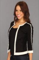 DKNYC 3/4 Sleeveless Jacket w/ Mesh Inset