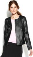DKNYC Faux-Leather Moto Jacket