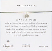 Dogeared Make A Wish Luck Elephant Necklace
