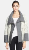 Elevenparis Tomaz Mixed Media Wool Blend Coat Medium