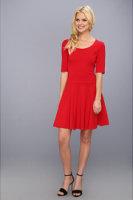 Eliza J 3/4 Sleeve Fit & Flare Skater Dress