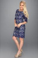 Eliza J 3/4 Sleeve Shift Dress